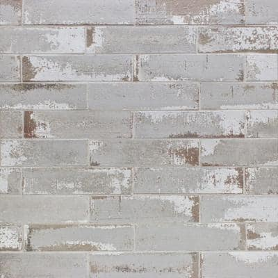 Metro Brick Gray 3 in. x 9 in. x 10mm Natural Clay Subway Wall Tile (30 pieces / 4.65 sq. ft. / box)