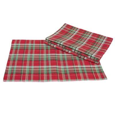 Holiday Tartan 19 in. x 13 in. Christmas Placemat (4-Set)