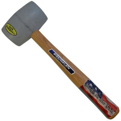 20 oz. White Rubber Mallet with 13 in. Hardwood Handle