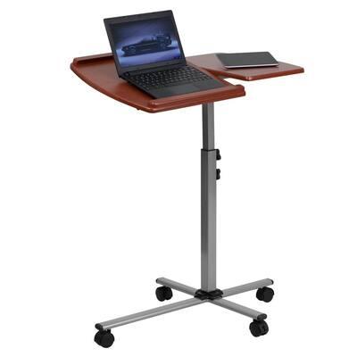 29.3 in. Rectangular Cherry Laptop Desks with Adjustable Height