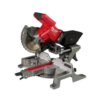 M18 FUEL 18-Volt Lithium-Ion Brushless Cordless 7-1/4 in. Dual Bevel Sliding Compound Miter Saw Kit w/One 5.0Ah Battery