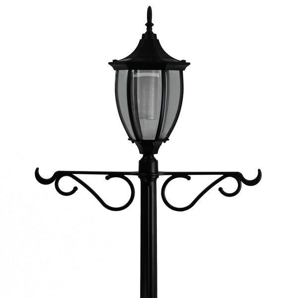 Sunray Crestmont 1 Light Outdoor Black, Multi Light Lamp Post