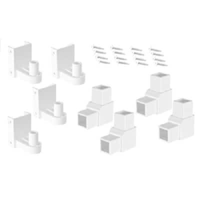 White Modular Vinyl Fence Hinge Kit (1-Box)