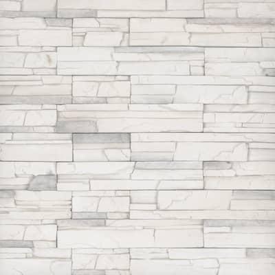 Terrado Veneto Snow Manufactured Stacked Stone Wall tile (6 sq. ft./Case)
