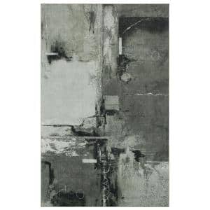 Fusion Grey 6 ft. x 9 ft. Abstract Area Rug