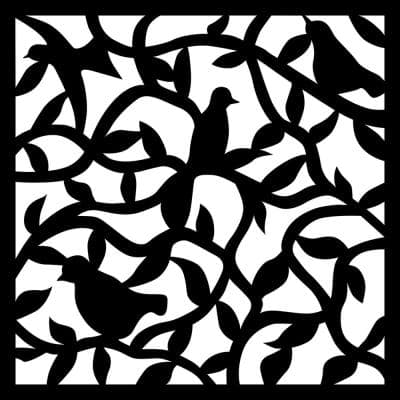 Nature 0.3 in. x 35 in. x 35 in. Charcoal Recycled Plastic Wall Art