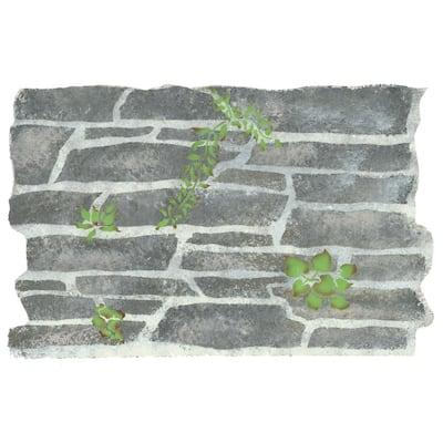 Stone Wall Wall Stencil