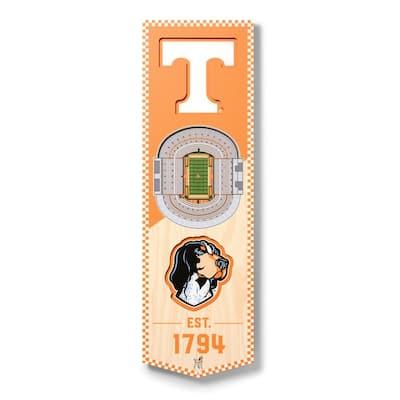 NCAA Tennessee Volunteers 6 in. x 19 in. 3D Stadium Banner-Neyland Stadium