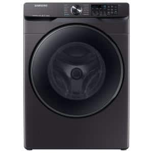5.0 cu. ft. High-Efficiency Black Stainless Steel Front Load Washing Machine with Super Speed and Steam, ENERGY STAR