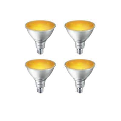 90-Watt Equivalent PAR38 LED Flood Yellow (4-Pack)