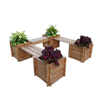 Garden Court 76 in. x 20 in. Wood Planter