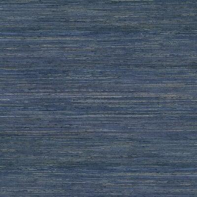 Pattini Indigo Grasscloth Non-Pasted Wallpaper Roll (Covers 72 Sq. Ft.)