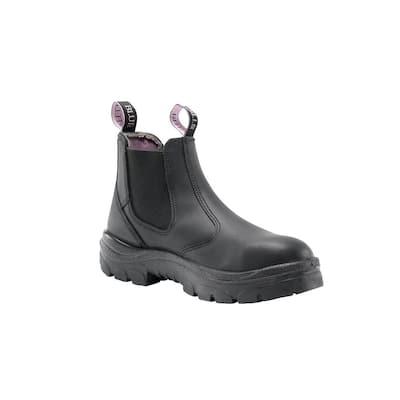 Women's Hobart Romeo Slip On 6 inch Work Boots - Steel Toe - Black Size 11(W)