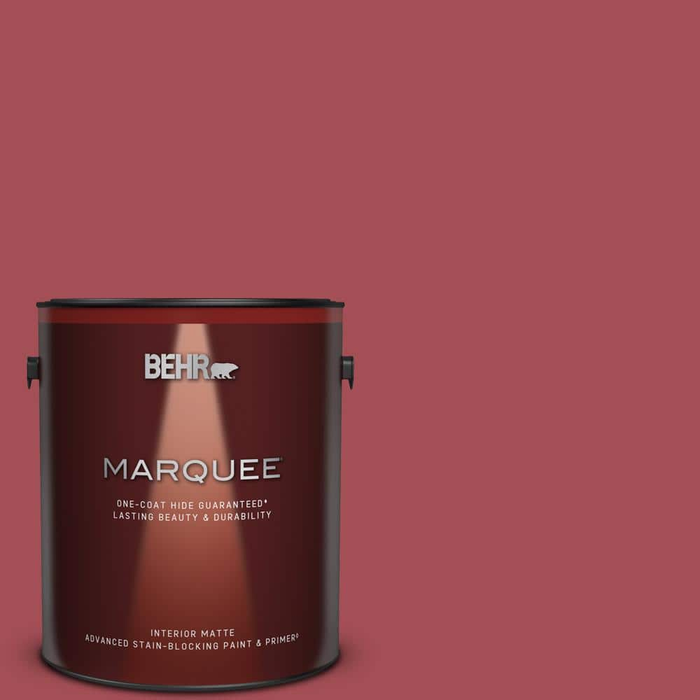 Behr Marquee 1 Gal Home Decorators Collection Hdc Fl15 02 Cranberry Jam Matte Interior Paint Primer 145301 The Home Depot