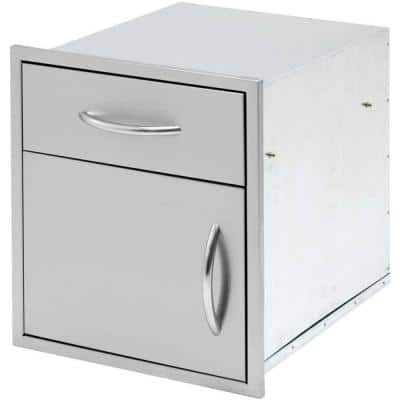 Outdoor Kitchen 18 in. Stainless Steel Door and Drawer Combo