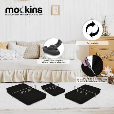 9 ft. x 12 ft. Premium Grip and Non-Slip Rug Pad in Black