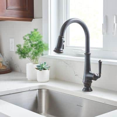 Delancey Single-Handle Pull-Down Sprayer Kitchen Faucet in Legacy Bronze