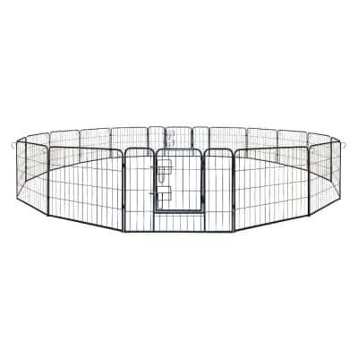 2.5 ft. H x 10.5 ft. W x 10.5 ft. L Panel Dog Kennel