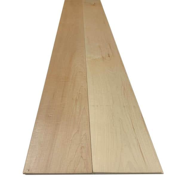 Swaner Hardwood 1/4 in. x 5.5 in. x 7.5 ft. UV Prefinished Maple Shiplap Board (2-Pack)   The Home Depot