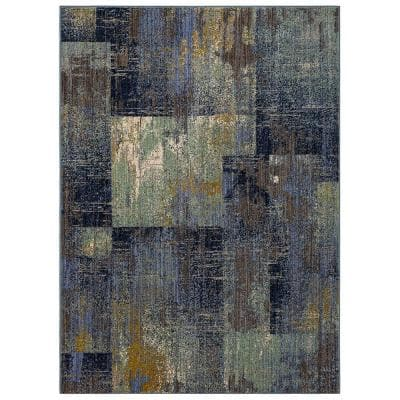 Empire Periwinkle 5 ft. x 7 ft. Geometric Area Rug