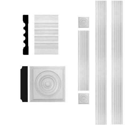 3/4 in. x 5-1/4 in. x 8 ft. MDF Fluted Door Casing Moulding Set
