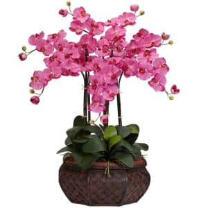 30 in. H Dark Pink Large Phalaenopsis Silk Flower Arrangement