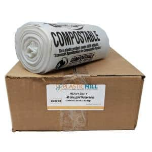 42 Gal. 0.85 mil 33 in. x 48 in. Clear Compostable Bags (50- Count)