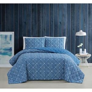 Katrine 2-Piece Blue Twin XL Cotton Quilt Set