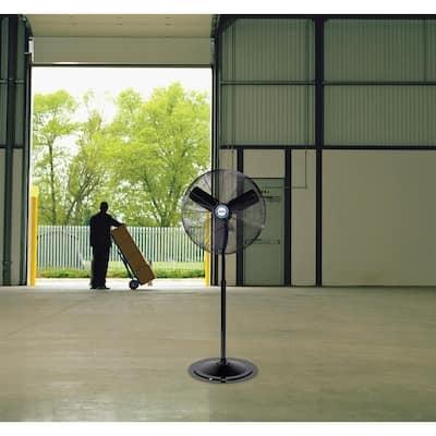 Adjustable-Height 30 in. Industrial-Grade Oscillating Pedestal Fan