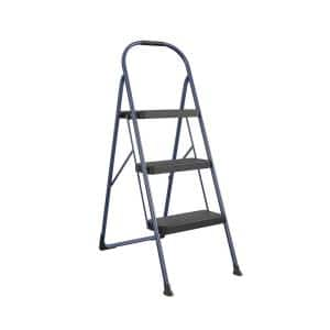 3-Step Big Step Steel and Resin Step Stool (ANSI Type 2, 225 lbs. Weight Capacity in Navy)