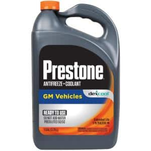 Prestone Dex Cool Antifreeze Coolant Extended Life 1 Gal Ready To Use 50 50 Af850 The Home Depot