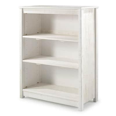 Rustic Tall Bookcase, Rustic White
