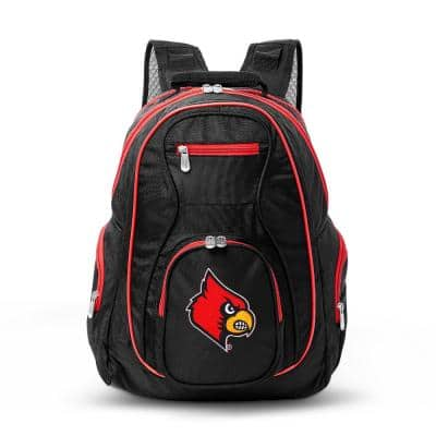 NCAA Louisville Cardinals 19 in. Black Trim Color Laptop Backpack