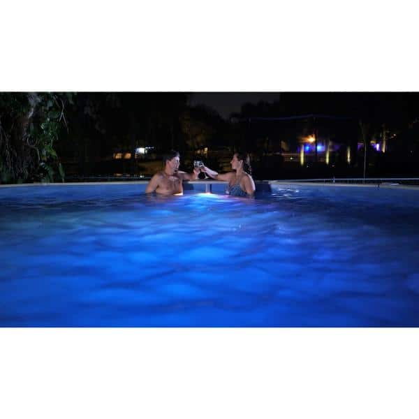 Nitelighter 100w 1350 Lumens Underwater Led Pool Light For Above Ground Pools Nl100 The Home Depot