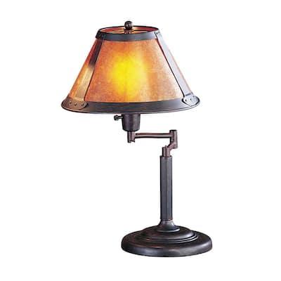 15 in. Rust Metal Desk Lamp