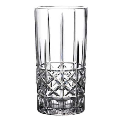 Brady 9 in. Clear Crystal Vase