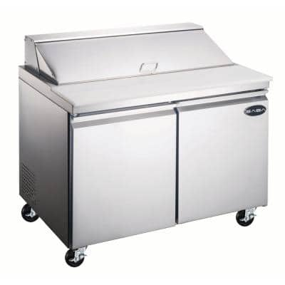 60.25 in. W 15 cu. ft. Commercial Food Prep Table Refrigerator Cooler in Stainless Steel