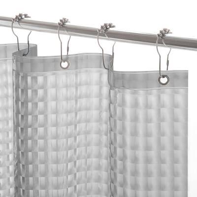 Medium Weight Embossed PEVA 70 in. W x 72 in. H Smoke Shower Curtain Liner
