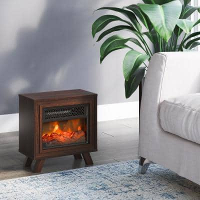 Duraflame 400 sq. ft. Tabletop Electric Fireplace Heater in Woodland Cherry