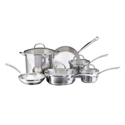 Millennium 10-Piece Stainless Steel Cookware Set