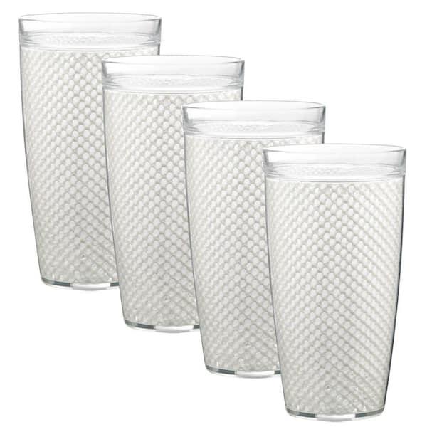 Kraftware - Fishnet 22 oz. White Insulated Drinkware (Set of 4)