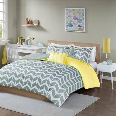 Laila 5-Piece Yellow Full/Queen Comforter Set