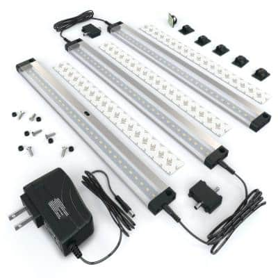 12 in. LED 6000K Black Under Cabinet Lighting, Dimmable Hand Wave Activated (3-Pack)