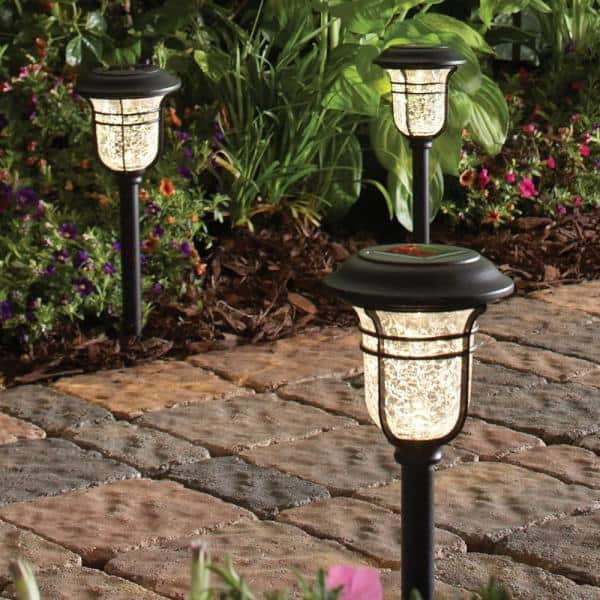 Improvements 12-Pack Solar Powered Pathway Lights Bronze