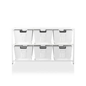 Becca White Organizer with 6-Storage Bins