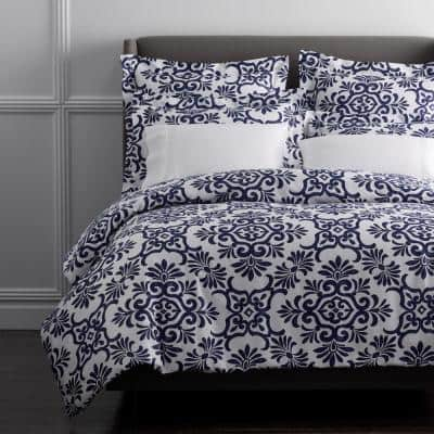 Legends Yardley Multicolored Geometric 600-Thread Count Egyptian Cotton Oversized Queen Duvet Cover