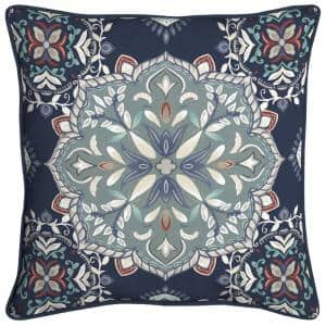 Midnight Medallion Square Outdoor Throw Pillow (2-Pack)