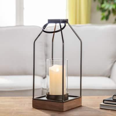 14 in. H Metal Candle Lantern