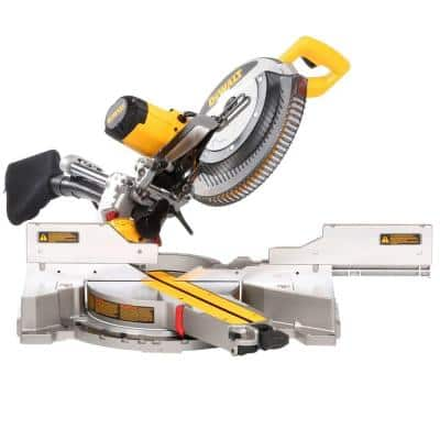 15 Amp Corded 12 in. Double Bevel Sliding Compound Miter Saw with XPS technology, Blade Wrench & Material Clamp