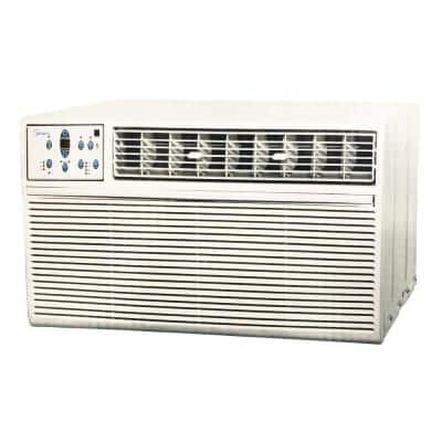 14,000 BTU 208-Volt to 230-Volt Through The Wall Air Conditioner with Heat and Cool in White